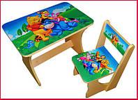 Стол для детей со стулом «Вини Пух», 2-5 лет, фото 1