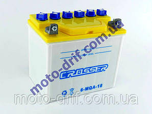 Аккумулятор 18А (187*125*177) сухозаряженный (ZUBR)