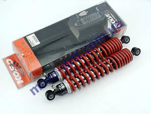 Амортизатор задний 340 мм с подкачкой, пара,  KOSO (Тайвань)