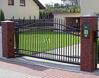 Ворота откатные металлические вариант №12