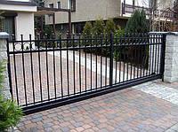 Ворота откатные металлические вариант №14