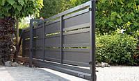 Ворота откатные металлические вариант №15