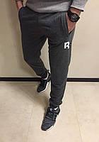 Крутые спортивные штаны Reebok, темно-серые