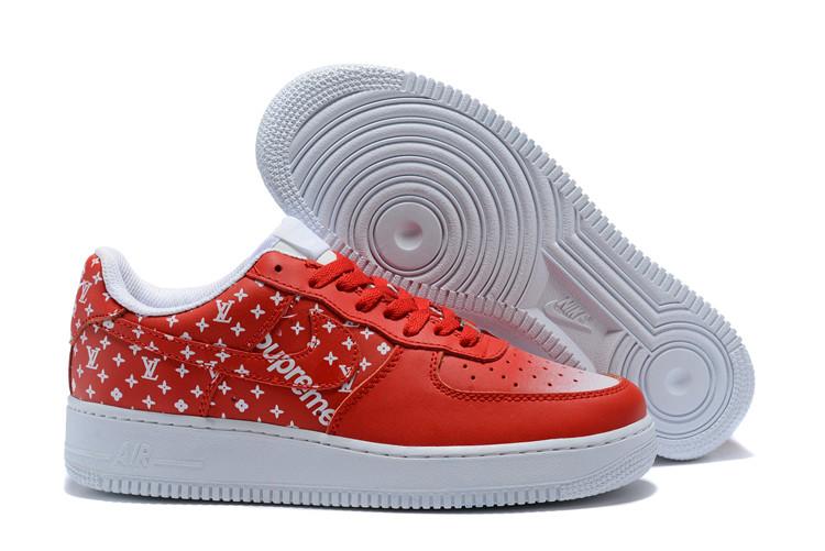 Кроссовки Nike Air Force 1 x Supreme найк аир форс мужские женские реплика  - Интернет- 1ba3411d3d2