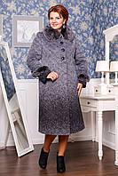 Женское зимнее пальто с натуральным воротником