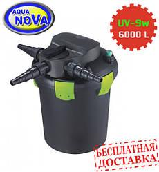 Напорный фильтр AquaNova NBPF-6000 УФ-лампа 9w с обратной промывкой.