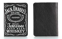 Кожаная обложка на паспорт Jack Daniel's (Джек Дениелс)