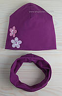 Набор Лоли шапочка и хомут фиолетового цвета
