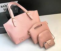 Женская розовая сумка набор 4в1 опт, фото 1
