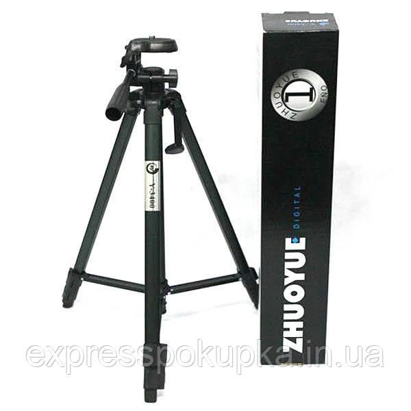 Компактный штатив для фотоаппарата Zhuoyue ZY3400 Черный