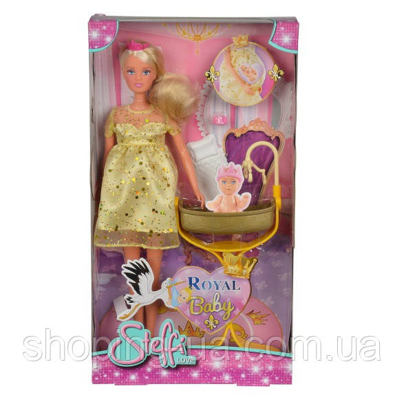 Кукла Штеффи беременная с кроваткой для королевского малыша Simba 5737084