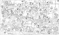 Обои-раскраски Пиратская карта 60х100см