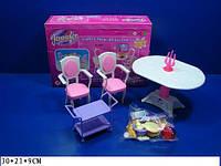 Мебель Jennifer 2832 36шт со светом, для столовой, стол, 2 стула..., в кор. 30219см