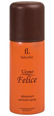 Парфюмированный дезодорант спрей для мужчин Uomo Felice, Faberlic, Фаберлик, 100 мл, 3602