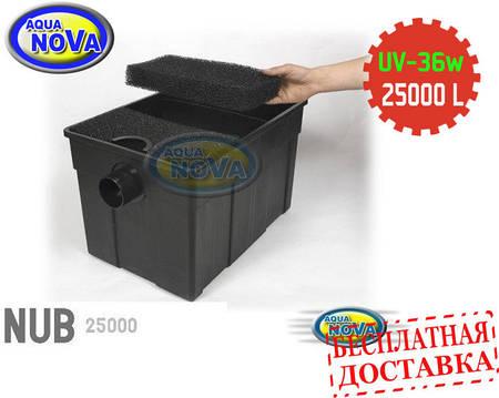 Проточный фильтр для пруда AquaNova NUB-25000 с UVC36 лампой.