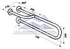Поручень для инвалидов пристенный усиленный с поворотной ножкой, Ø 32мм - 700мм, фото 2