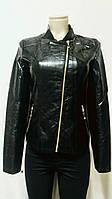Куртка женская,кожзам,весна-осень,размеры S-4XL,цвет черный