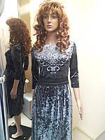 Плаття сіре велюр гердан 2a8777054457f