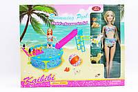 Кукла типа Барби BLD112 24шт2 с питомцами,бассейн с горкой, в кор.
