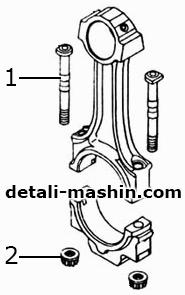 Шатун двигателя КамАЗ в сборе