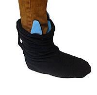 Тапочки Чертики черные с голубыми рожками