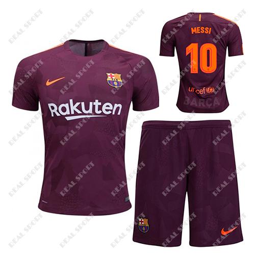 6eb29f7ae7a5 Детская футбольная форма ФК Барселона 2017-2018, Месси №10. Резервная форма