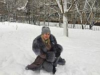 Фото от клиента ) Парка с мехом Blue Frost 100см, фото 1