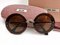 Солнцезащитные очки в стиле Miu Miu (5922) brown