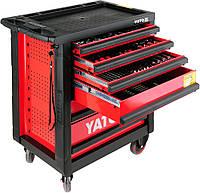 Шкаф с инструментами на колесах YATO, 6 ящиков 958x766x465мм наб. 177 шт.