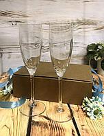 Подарочный набор бокалы шампанского