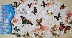"""Антиковзаючий килимок для ванної на присосках """"Метелики"""" 9201"""