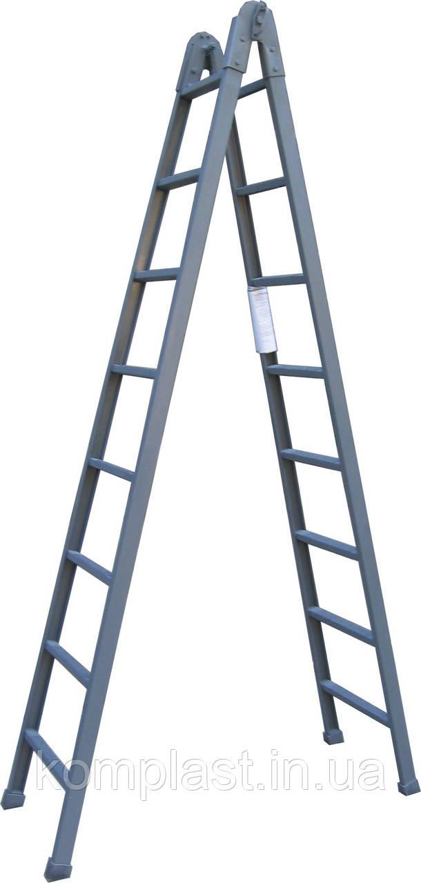 Лестница диэлектрическая раскладная 1-2м
