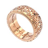 Мужское золотое кольцо Шина