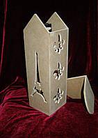Короб для вина Эйфелева башня (11 х 11 х 33 см), декор