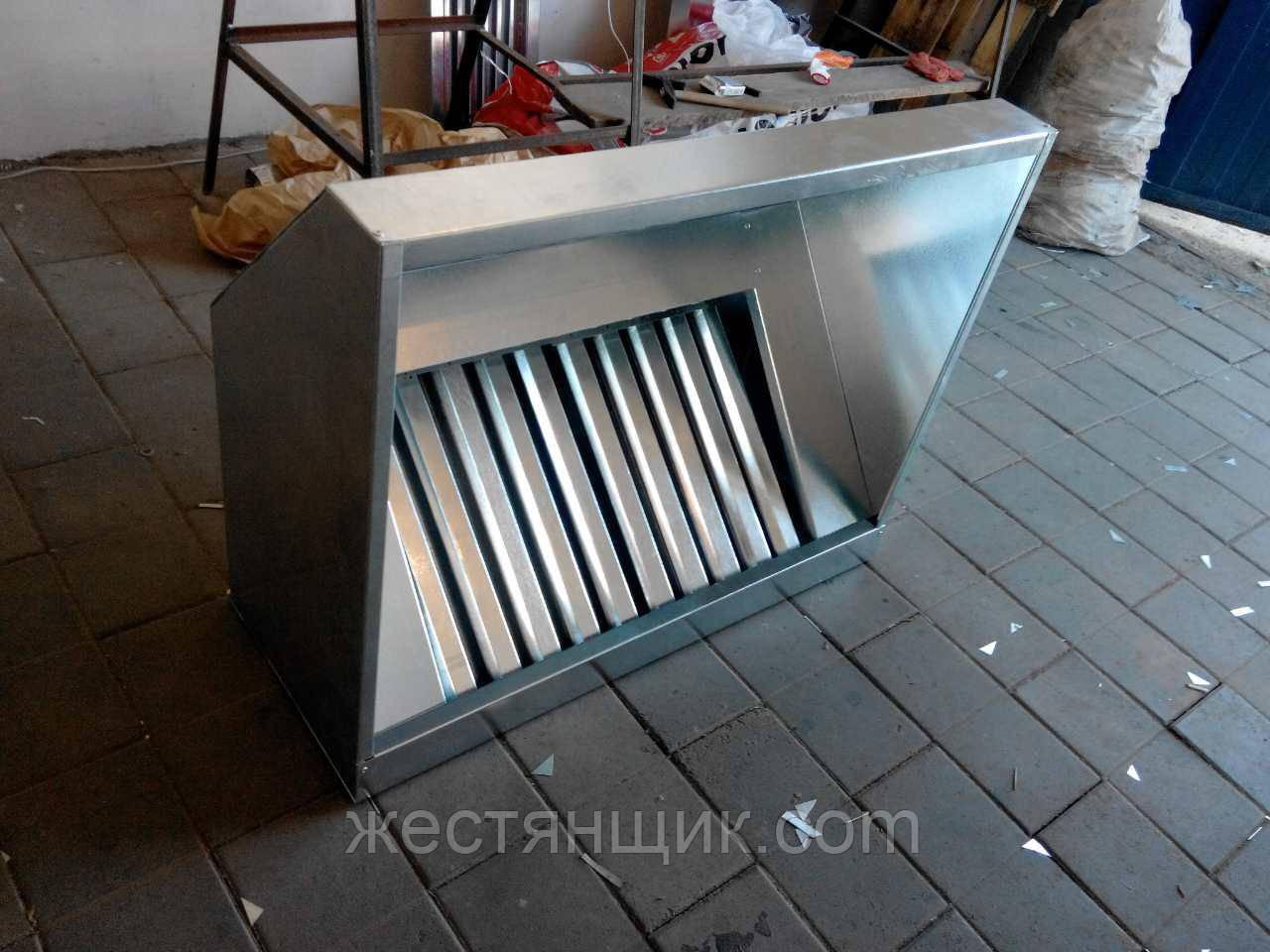 Производство вытяжных зонтов из оцинкованной стали 1600, 700, Оцинкованная сталь, 400