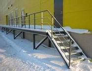 Металлические лестницы и ограждения вариант №21