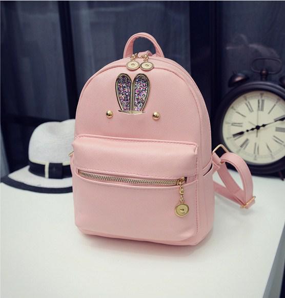 Красивый рюкзак женский розовый