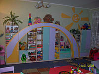 Детская стенка для игрушек РАДУГА (5500*400*1800h)