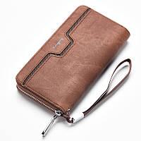 Мужской клатч портмоне Baellerry Jeans, коричневый