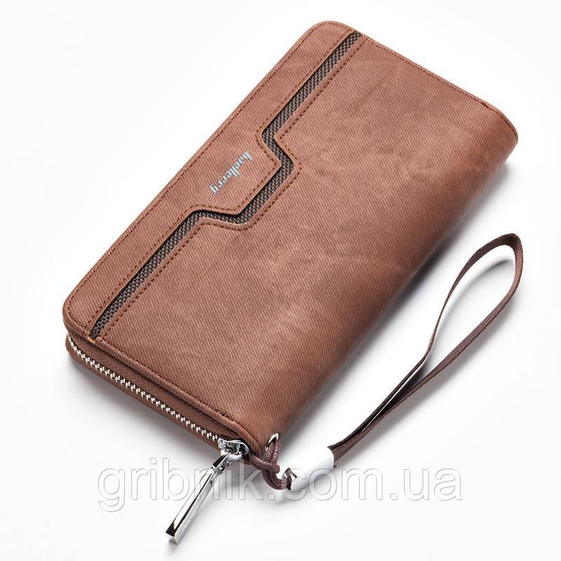 99161766c516 Мужской клатч портмоне Baellerry Jeans, коричневый - Интернет-магазин