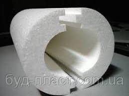 Утеплитель для труб диаметром 50мм х 80мм, Скорлупа СКП 5080 пенопласт ПСБ-С-35