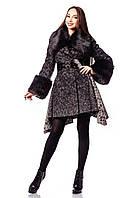 Молодежное зимнее пальто с поясом