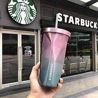 Стакан с крышкой и трубочкой Starbucks