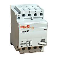 Пускатель, контактор модульный ПМм 4 полюси 40A 20кВт 380В Electro