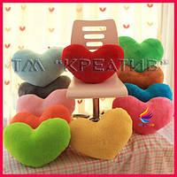 Декоративная подушка сердце с Вашим логотипом (под заказ от 50 шт)