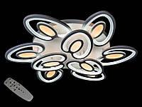 Светодиодная люстра с пультом-диммером белая 8099-6+3