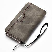Мужской клатч портмоне Baellerry Jeans, серый