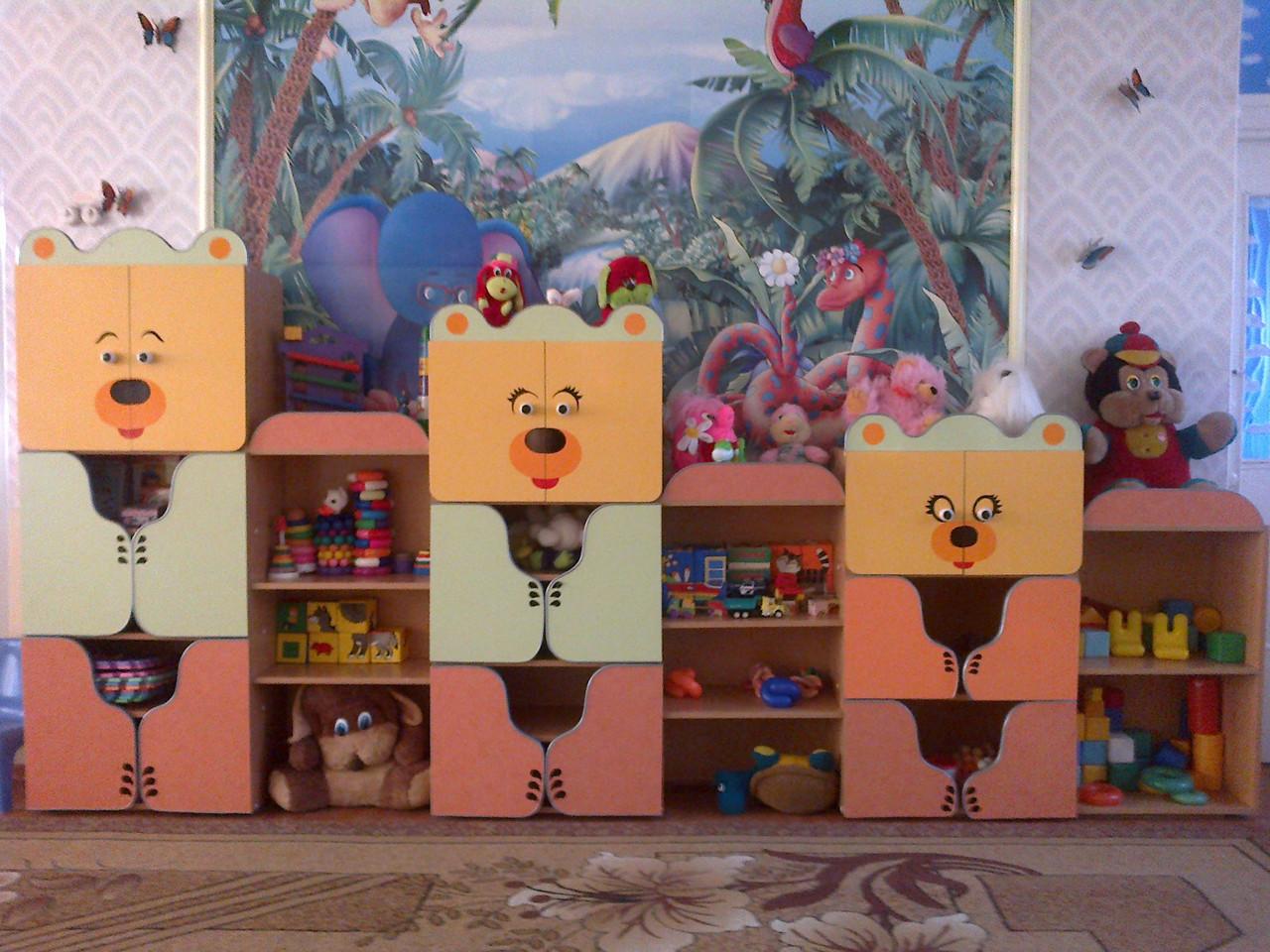Стенка для детского сада ТРИ МЕДВЕДЯ (3600*400*1600h)