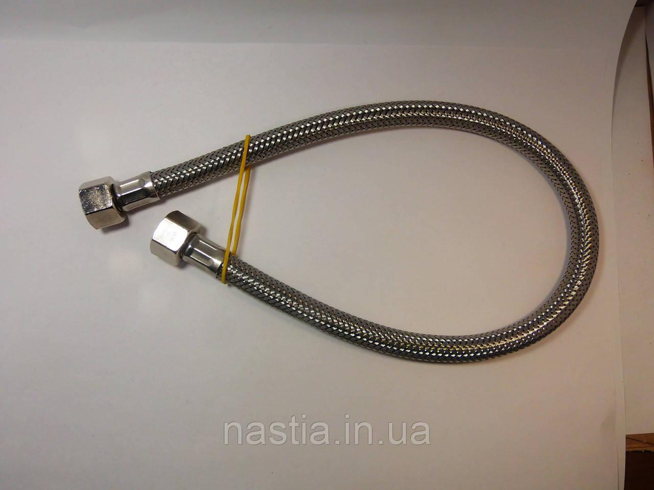 V177 Гнучка трубка у сталевій обмотці, 3/8-3/8(мама-мама), L=500mm