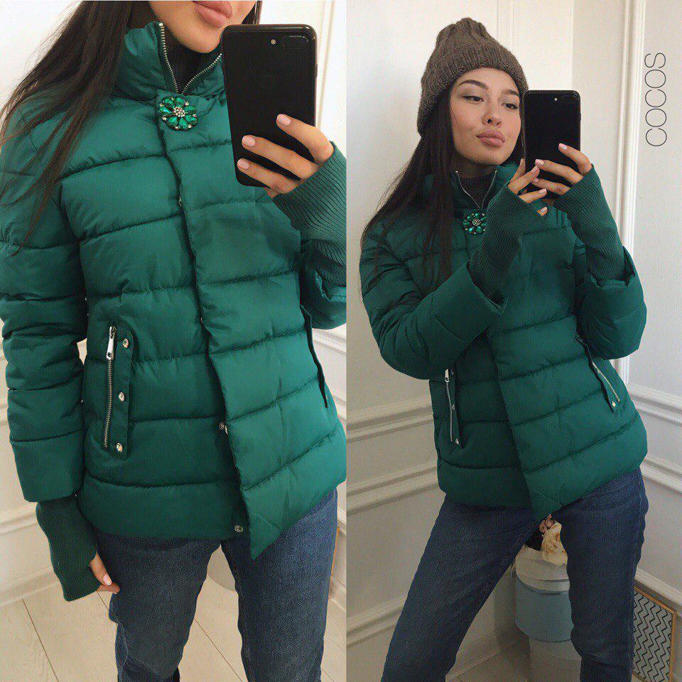 8c31ecfbe33 Куртка с брошкой - eleganza.com.ua в Одессе